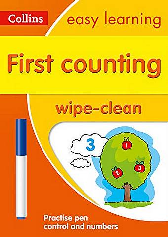 First Counting Age 3-5 Wipe Clean Activity Book: Prepare for Preschool with easy home learning (Collins Easy Learning Preschool) - Collins Easy Learning - 9780008387860