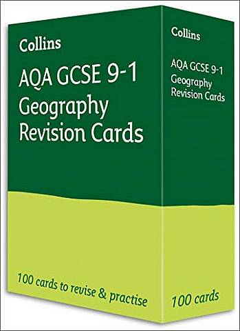 AQA GCSE 9-1 Geography Revision Cards: For the 2020 Autumn & 2021 Summer Exams (Collins GCSE Grade 9-1 Revision) - Collins GCSE - 9780008399313