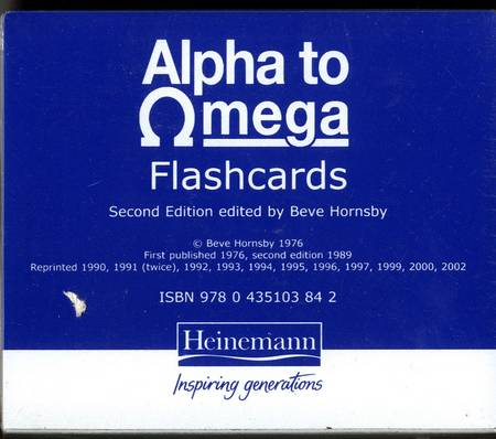 Alpha To Omega Flashcards - Beve Hornsby - 9780435103842