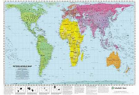 Peters World Map - Schofield & Sims - 9780721709338