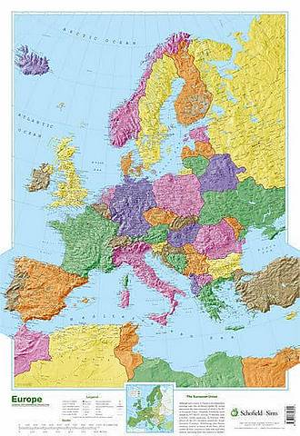 Map of Europe - Schofield & Sims - 9780721709345