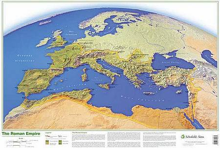 Map of the Roman Empire - Schofield & Sims - 9780721709475