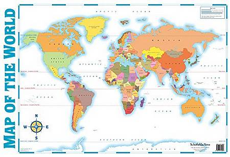 Map of the World - Schofield & Sims - 9780721755960