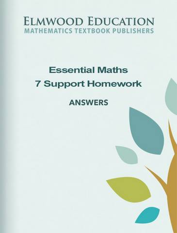 Essential Maths 7 Support (2019) Homework Answers - Michael White - 9781906622886