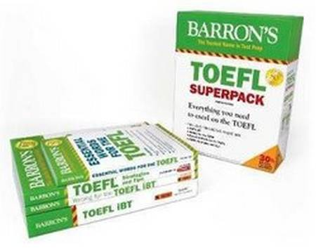 Barron's TOEFL iBT Superpack (4th Edition) (4 Books including Practice Tests & Online Audio) - Pamela J. Sharpe - 9781438078847