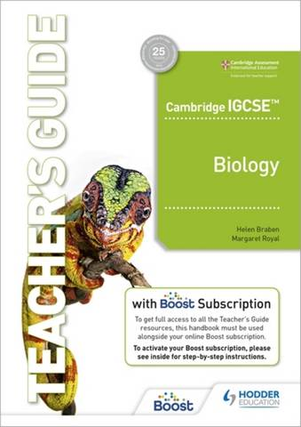 Cambridge IGCSE (TM) Biology Teacher's Guide with Boost Subscription Booklet - Margaret Royal - 9781398310476