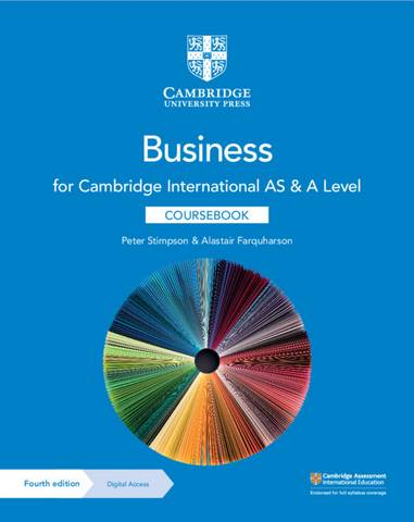 Cambridge International AS & A Level Business Coursebook with Digital Access (2 Years) - Peter Stimpson - 9781108921220