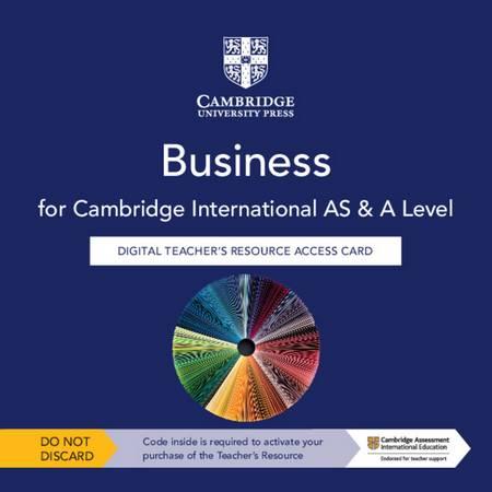 Cambridge International AS & A Level Business Digital Teacher's Resource Access Card - Kelly Chalk - 9781108940696