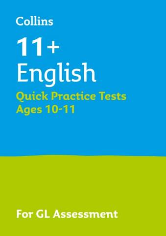 Collins 11+ Practice - 11+ English Quick Practice Tests Age 10-11 (Year 6): For the 2021 GL Assessment Tests - Letts 11+