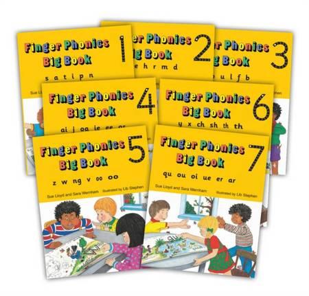 Finger Phonics Big Books 1-7: In Precursive Letters - Sara Wernham - 9781870946940