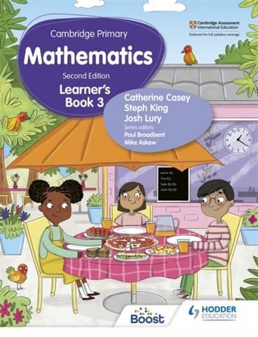 Cambridge Primary Mathematics Learner's Book 3 Second Edition - Catherine Casey - 9781398300989