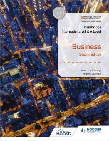 Cambridge International AS & A Level Business Second Edition - Malcolm Surridge - 9781398308114
