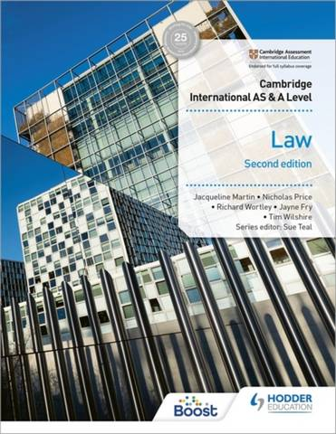 Cambridge International AS and A Level Law Second Edition - Jayne Fry - 9781398312098