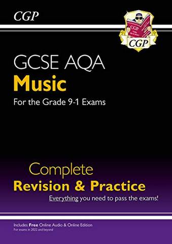 New 9-1 GCSE Music AQA Complete Revision & Practice with Online Edition & Audio: for exams from 2022 - CGP Books - 9781789086287